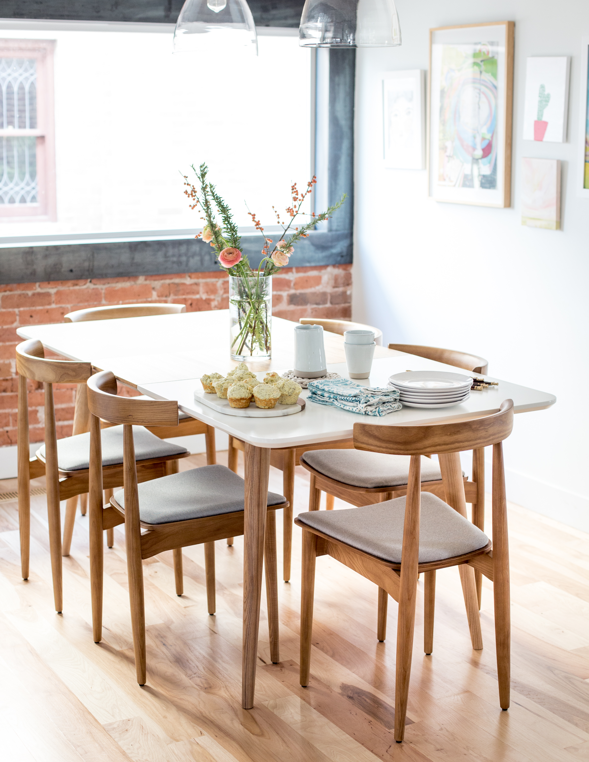 Midcentury Modern Dining Table And Chairs  Flax & Twine