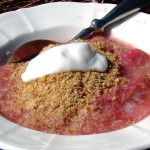 golden linseed and rhubarb cOMPOTE c