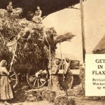 British women workers getting in the Flax Crop a