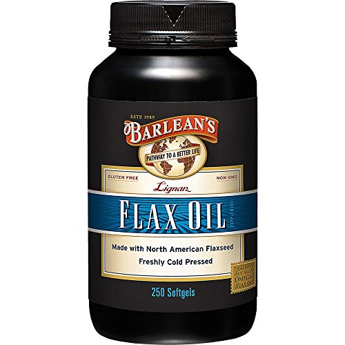 Barlean's Organic Oils High Lignan Flax Oil, 250 Count