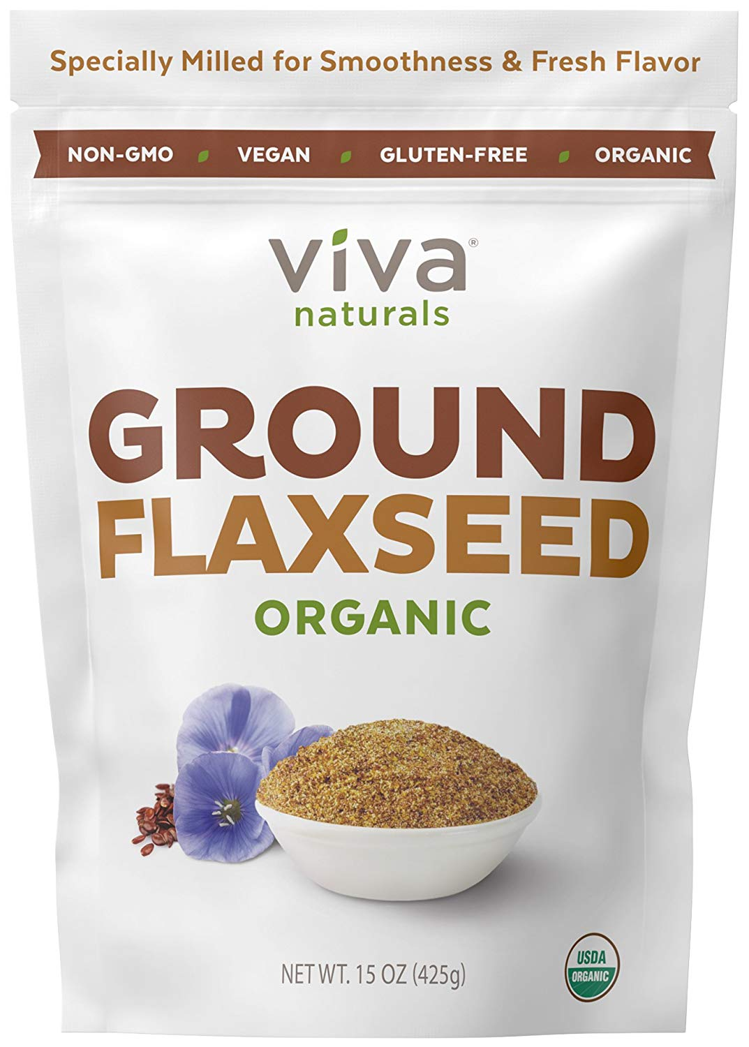 viva naturals ground organic flaxseed