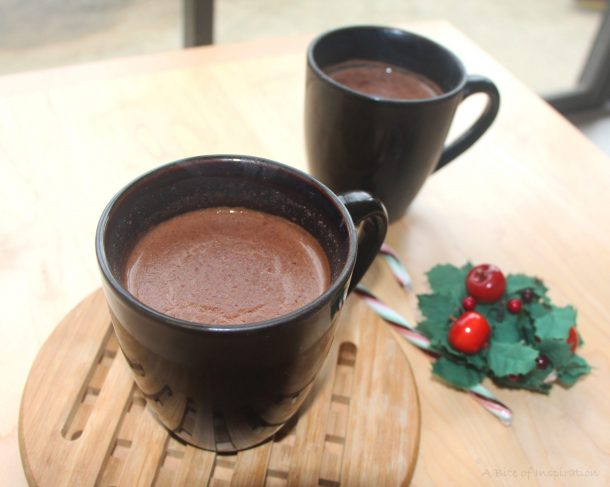 Hot chocolate photo taken after food photography tips were implemented