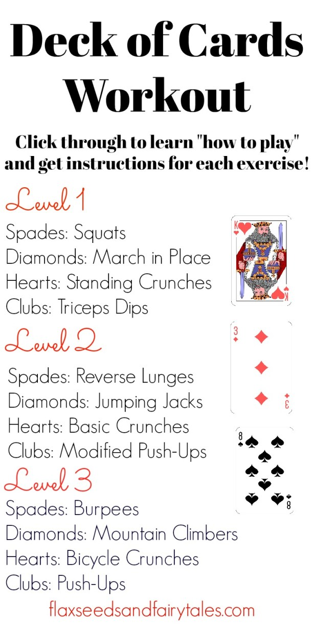 The deck of cards workout is an exciting workout with fast results, learn how to play here!