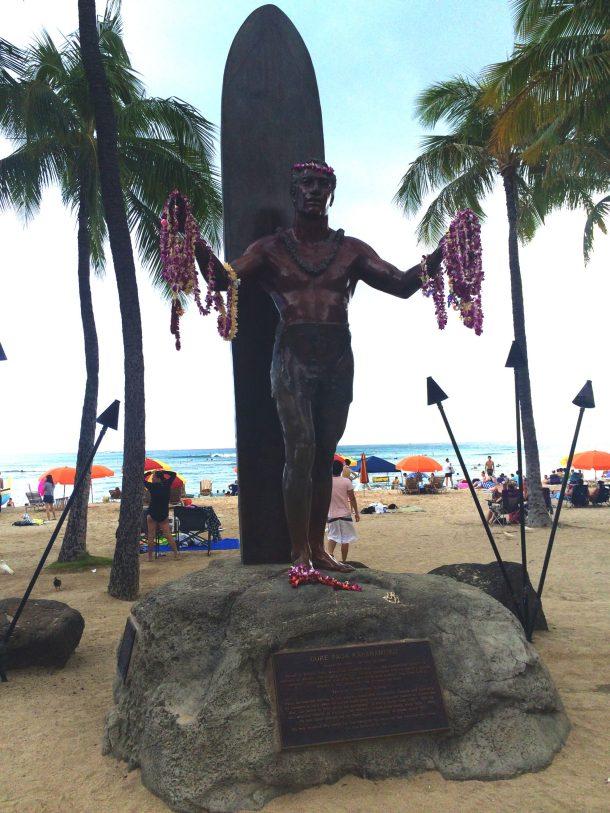 Photo of Duke statue in Waikiki