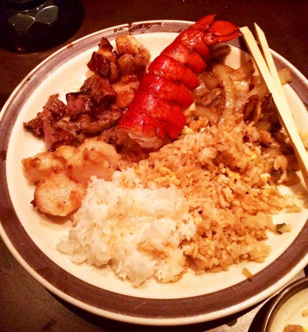 Teppenyaki at Tanaka of Tokyo Central is one of the foods you must try in Waikiki