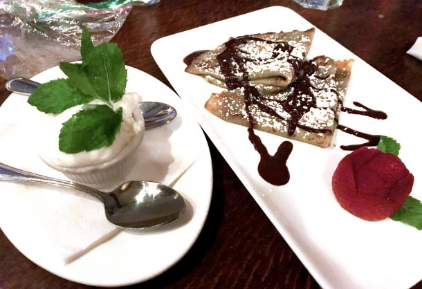 Gluten-free Nutella Crepes at Senza Gluten. One of the many options for gluten-free in NYC