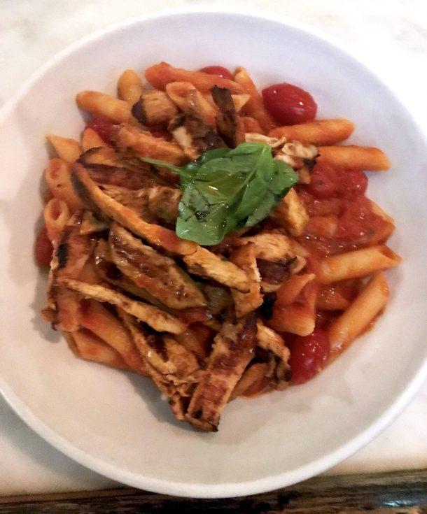 Gluten free pasta from Nino's 46, one of many celiac friendly restaurants in New York