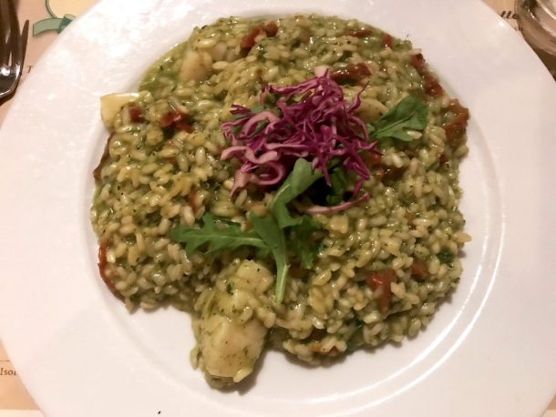 Scallop risotto is part of gluten free restaurants in New York City guide