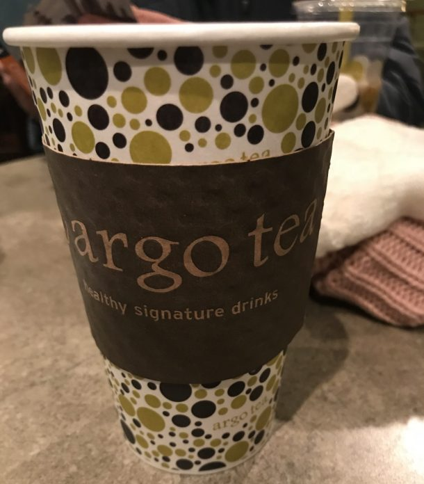 Drinking Argo Tea is a great way to stay warm when visiting Chicago in the winter
