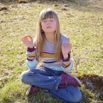 Child doing mindfulness meditation