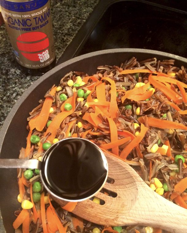 Easy wild rice recipe cooks in just one skillet
