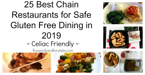 Best celiac friendly restaurant chains and chain restaurants with gluten free options