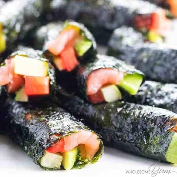 Low carb keto sushi rolls