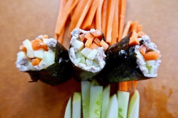 Low carb keto vegan sushi