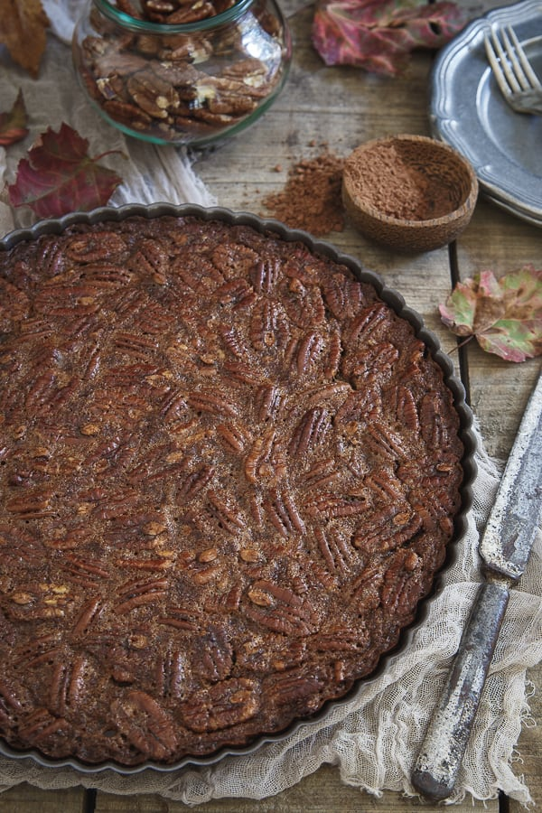 Paleo pecan pie is a delicious gluten free, grain free, and paleo dessert