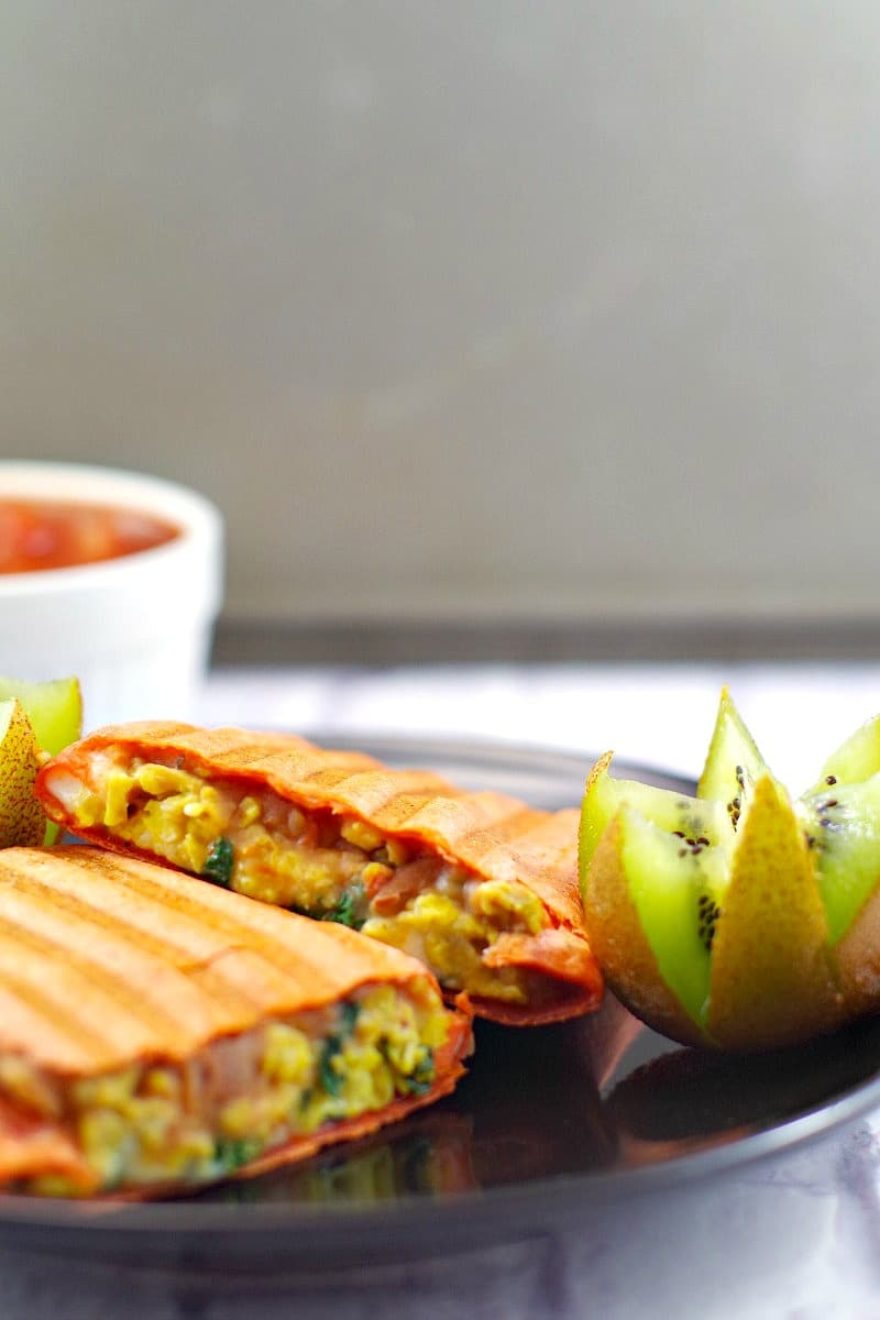 Healthy and budget-friendly breakfast burrito