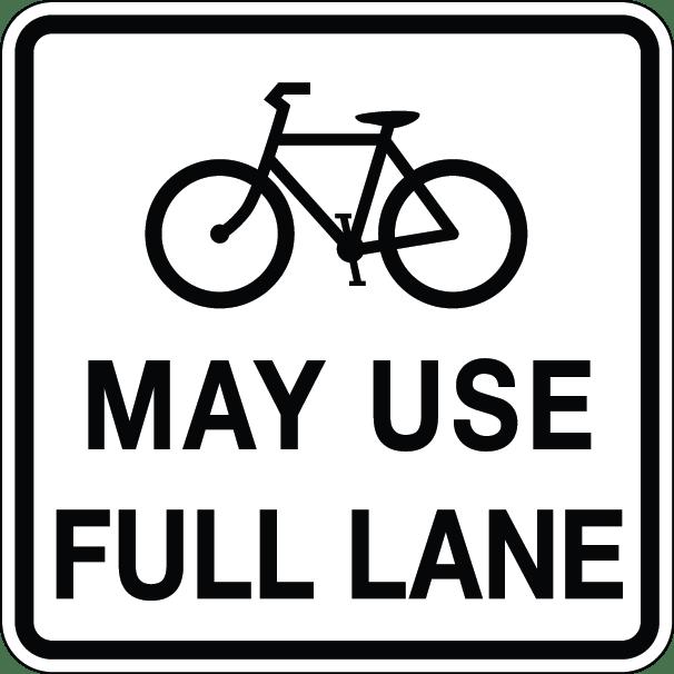 bicycles may use full