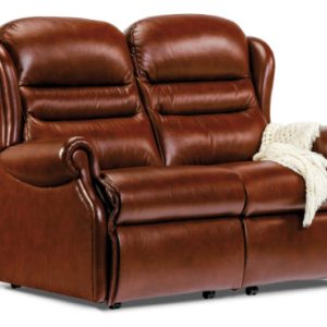 Ashford Small Leather Fixed 2-Seater Settee