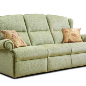 Claremont Small Fabric Fixed 3-Seater Settee