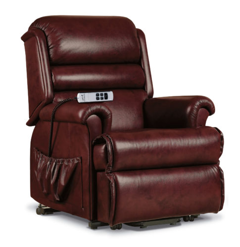 comfi sit small leather lift rise recliner f l. Black Bedroom Furniture Sets. Home Design Ideas