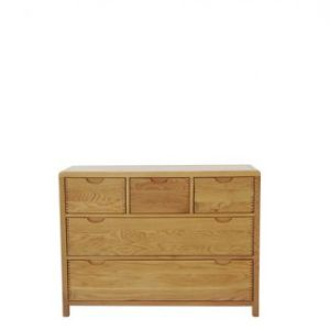 Bosco Five Drawer Wide Chest