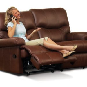 Norvik Standard Leather Reclining 2-Seater Settee
