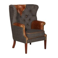 The Leather Sofa Company Uk Grey Corner Sale Vintage Kensington Wing Chair F L Caswell Ltd
