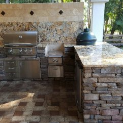 Green Kitchen Backsplash Glass Tables Creative Outdoor Kitchens Of Florida - ...