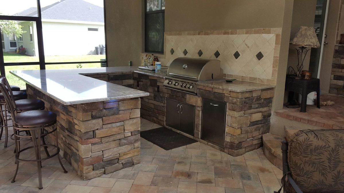Creative Outdoor Kitchens Of Florida Backsplash Creative