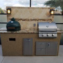 Custom Outdoor Kitchens Kitchen Rolling Cart Creative Of Florida Backsplash - ...
