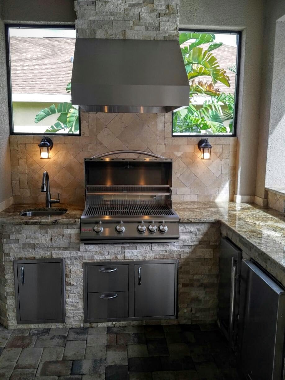 outdoor kitchen exhaust hoods drawer handles creative kitchens of florida stone granite 4