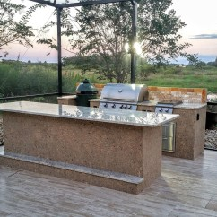 Custom Outdoor Kitchens Kitchen Soap Creative With Big Green