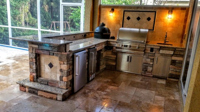 creative outdoor kitchens of florida beautiful stonework outdoor