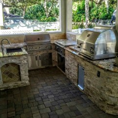 Outdoor Kitchen Oven Wall Mounted Cabinets Creative Kitchens Of Florida With Grill 4