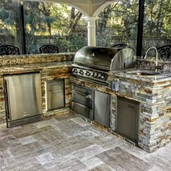 Grill For Outdoor Kitchen Banquette Seating Creative Kitchens Of Florida Home