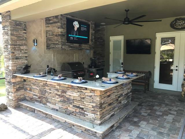 outdoor kitchen pedestal table creative kitchens of florida home view full gallery our stone projects