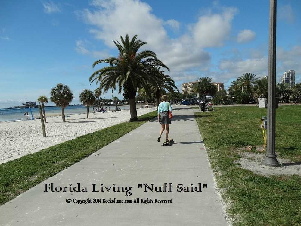 Senior Woman On Longboard. The craziest picture naturally taken to sum up the florida legal marijuana movement especially among senior citizens.