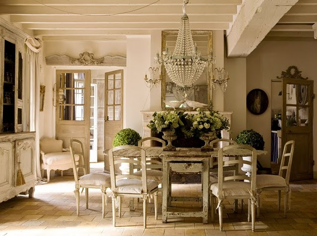 Beautiful French Shabby Chic Vintage Interior design