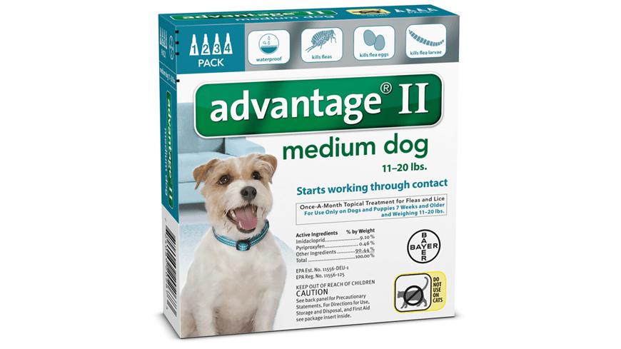 Advantage II for Dogs Dosage | FleaScience