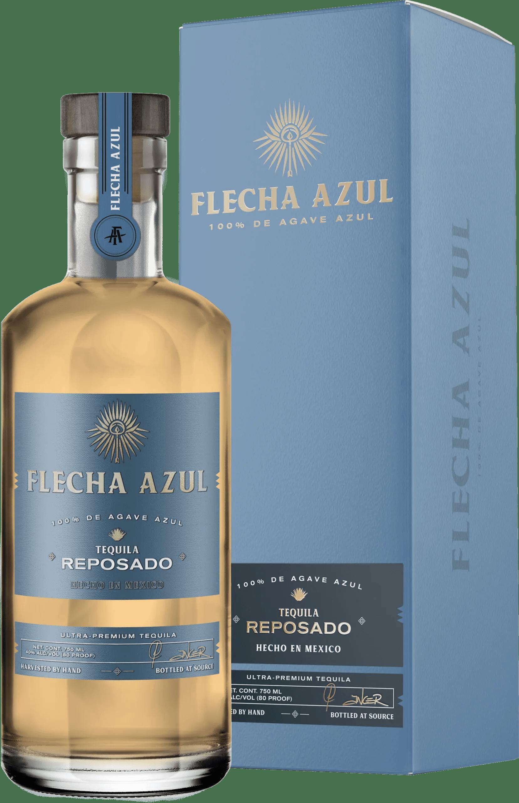 Flecha Azul Tequila - Premium Reposado Tequila and box