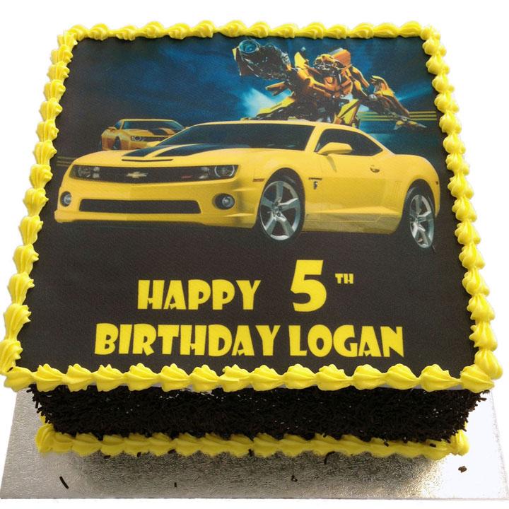 Bumblebee Transformers Birthday Cake Flecks Cakes