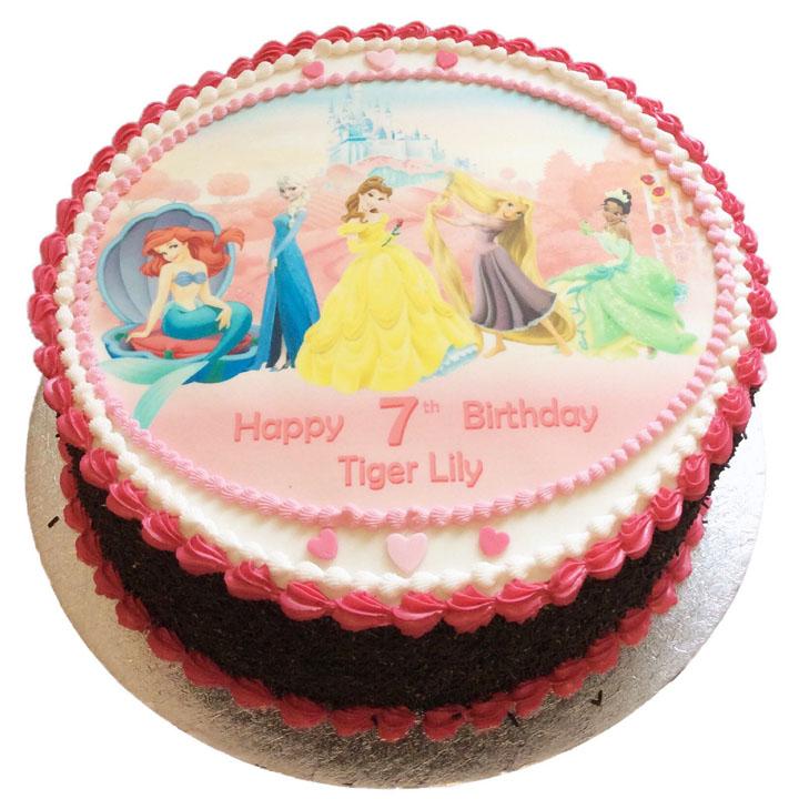 Disney Princesses Birthday Cake Flecks Cakes