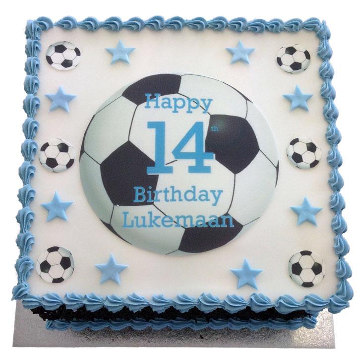 Football Birthday Cake Flecks Cakes