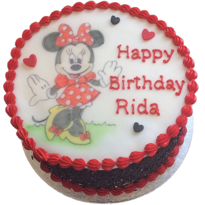 Minnie Mouse Birthday Cake Flecks Cakes