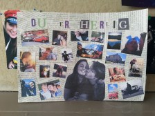 One of his gifts I hand made; a picture of lots of little memories on it.