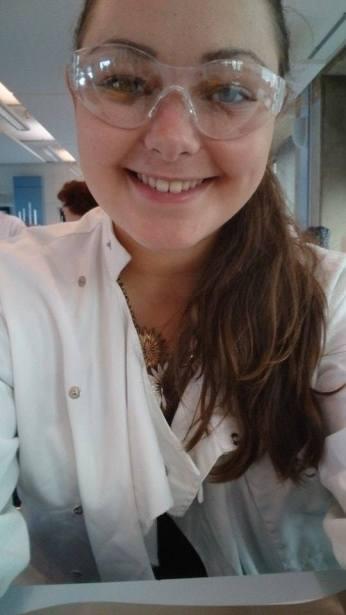Labcoat and glasses selfie