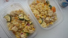 Quorn, courgette, sweetcorn and rise lunch packs