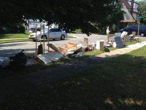 moving garbage piles