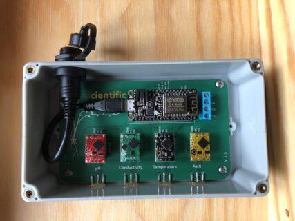 Aquaponic Aquaponik Wasserqualität Messbox fleeds für EC pH DO Temperatur