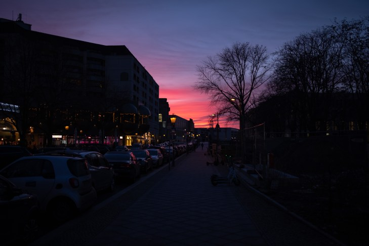 Sunset at Nikolaiviertel, Berlin 2020